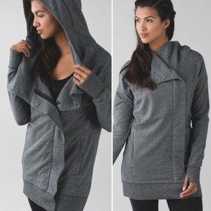 Lululemon | Wrap Up Jacket Hoodie Heathered Gray